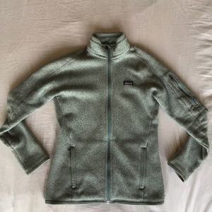 Light Green Patagonia Better Sweater Zip Up Jacket
